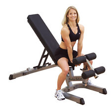 Body-Solid Adjustable FID Bench w/ Leg Developer and Curl Attachment for Gym
