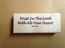 Mounted Rubber Stamps, Christian Stamp, Bible Verse, Trust in the Lord, Pov. 3:5