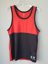 Mens Adidas Tank basketball Shirt Medium Red Black
