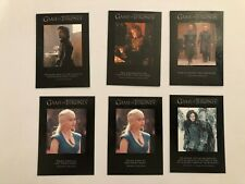 GAME OF THRONES SEASON 3 QUOTABLE 6 CHASE CARD LOT Q21 Q24 Q25 Q28 Q29 GOT HBO