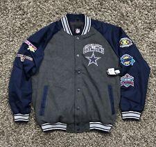New Dallas Cowboys 5 Time Super Bowl Champions Varsity Fleece Jacket Mens XL