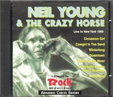 """NEIL YOUNG E THE CRAZY HORSE - CD MADE IN ITALY 1991 """" LIVE IN NEW YORK 1969 """""""
