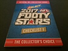 2017 Select Footy Stars - Common Card Checklist Set - 5 Cards