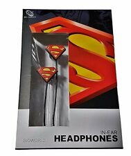 DC Comics SUPERMAN Logo In-Ear Headphones Earbuds