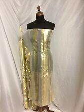 "NEW Designer Multi Colour Silk Chiffon Stripe Burnout Gold Foil Fabric 46"" 143cm"