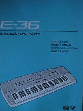 Roland keyboard e-36 instrucciones y MIDI implementation usado