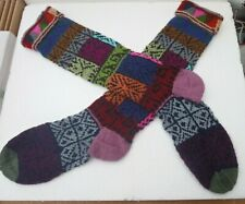 UNISEX ALPACA & MIXED FIBERS  LONG SOCKS FROM PERU *MULTI COLOUR Soft & Warm
