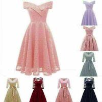 Women Wedding Bridesmaid Sleeveless Party Prom Ball Gown  Dress Lot