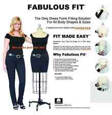 Dress Form System XL Fits Body Shapes Size XL Soft Pads Life-Like Touch