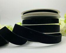 Black velvet ribbon choker gothic wedding thin wide gift bow luxury home decor