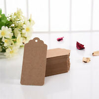 100PCS Brown Kraft Paper Scallop Wedding Gift Message Label Blank Luggage Tag
