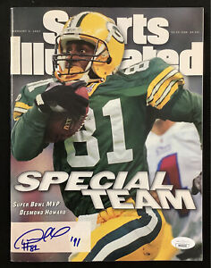 Desmond Howard Signed Sports Illustrated 2/3/97 Packers No Label Autograph JSA