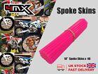 "Wheel Spoke Protectors Neon Pink 18"" fits Honda XR250 S 96"