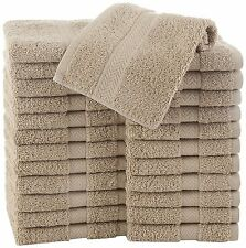 Cotton Wash Cloth Washcloth Pack Commercial Lot 24 Piece Set Solid Machine Wash