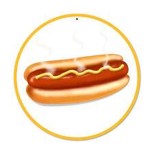 Hot Dog American Diner casi Foot Bistro publicidad retro sign chapa escudo Escudo