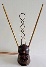 Vintage TV Antenna 1950s Television Brass Cast Iron Bakelite 12 Setting Dial