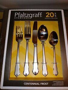 Pfaltzgraff Centennial Frost 20 Piece Set Services for 4