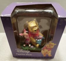 Disney Winnie The Pooh & Piglet Collectible Figurine Clock Iob New Battery