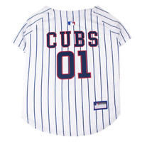 NWT Pets First Dog Chicago Cubs MLB  Baseball Jersey White/Blue  S   M   or L
