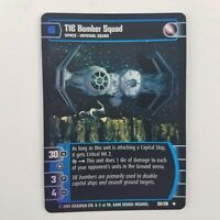 Star Wars TCG Empire Strikes Back TIE Bomber Squad Foil 133/210