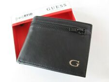New GUESS Men's Leather Wallet 31GO220046 BILLFOLD Black