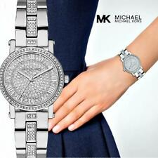 Original Michael Kors Watch Women's Watch mk3775 Petite Color:Silver/Crystal NEW