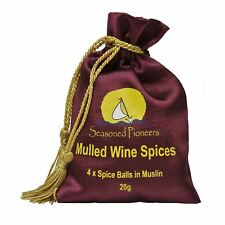Seasoned Pioneers Traditional Mulled Wine Drink Spices Drawstring Bag Xmas Gift
