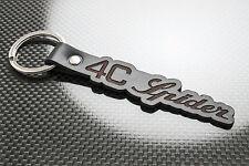 Alfa Romeo 4C SPIDER Leather Keyring, Keychain Schlüsselring Porte-clés Veloce