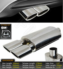UNIVERSAL T304 STAINLESS STEEL PERFORMANCE EXHAUST BACK BOX-YFX-0732–Vauxhall1