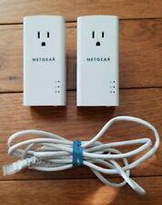 Lot of 2 NETGEAR PL1200S - Powerline 1200 Mbps Gigabit Ethernet Adapter