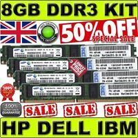 8GB(4x 2GB) PC3-10600R Kit For Dell PowerEdge R710 R610 R410 T710 M710 ORIGINAL