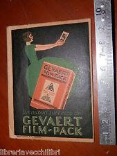 Vecchia bustina vuota per negativi GEVAERT FILM PACK Apollonio VERONA busta da