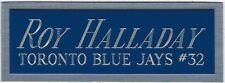 ROY HALLADAY BLUE JAYS NAMEPLATE AUTOGRAPHED Signed Baseball Display CUBE CASE