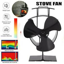 Thermal Fireplace Fan Wood Heater Stove Fan Heat Powered Circulate 3 Blades