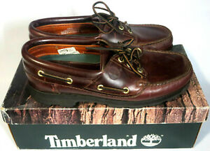 VTG Timberland Genuine Leather Classic Handsewn Lug Shoes Style 57003 Size 10