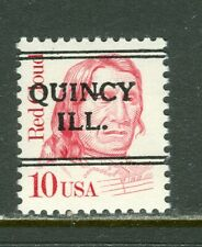 Quincy IL 241 DLE precancel on 10 cent Red Cloud Great American issue