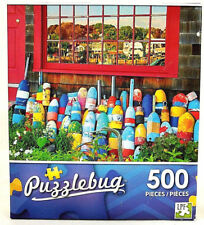 Jigsaw Puzzle 500 Pieces Lobster Buoys in Front of New England House Puzzlebug