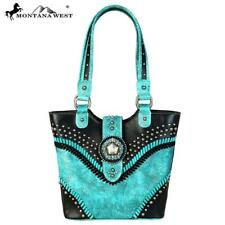 Montana West Concho Collection Tote Purse ~ Turquoise