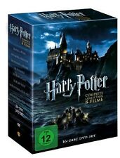 Harry Potter Box 16 DVDs Komplettbox Teil 1+2+3+4+5+6+7.1+7.2 + 8 x Bonus Disc