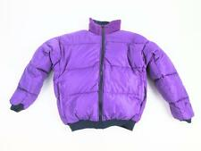 COLUMBIA SPORTSWEAR WOMENS WINTER DOWN PUFFER JACKET PURPLE BLUE REVERSIBLE S