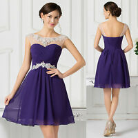 2015 Banquet Short Evening Ball Gown Party Prom Bridesmaid Dress Stock Size 6-20