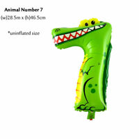 KIDS BIRTHDAY NUMBER BALLOONS FOIL ANIMAL PARTY WEDDING DECORATION BALLOON SMALL