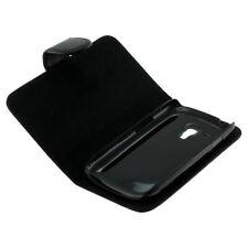 Book Case Etui Handytasche Tasche Hülle f. Samsung Galaxy S 3 Mini VE (Schwarz)