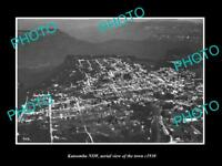 OLD LARGE HISTORIC PHOTO OF KATOOMBA NSW, AERIAL VIEW OF THE TOWN c1930