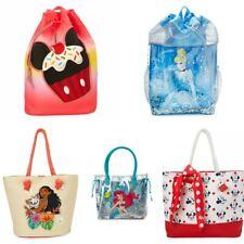 Disney Store Swim Bag Ariel Elsa Anna Sofia Minnie Cinderella Tinker Bell Aurora