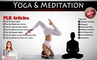 230+ PLR Articles on Yoga & Meditation Niche Private Label Rights