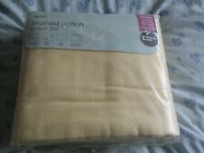 BNIP Dunelm Brushed Cotton Double Sheet Set & Two Pillowcases