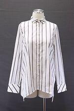 NWT $1345 Brunello Cucinelli Women's Sparkly Monili Beaded Striped Dress Shirt M