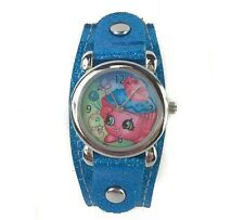 Shopkins Watch with Metal Face and Blue Glitter Band