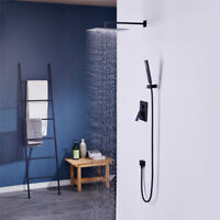 200mm Square Twin Shower Combine 75mm Hand Shower for Bathroom